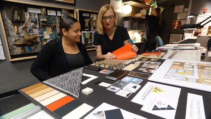 Instructors at interior design school will help you develop your artistic gifts